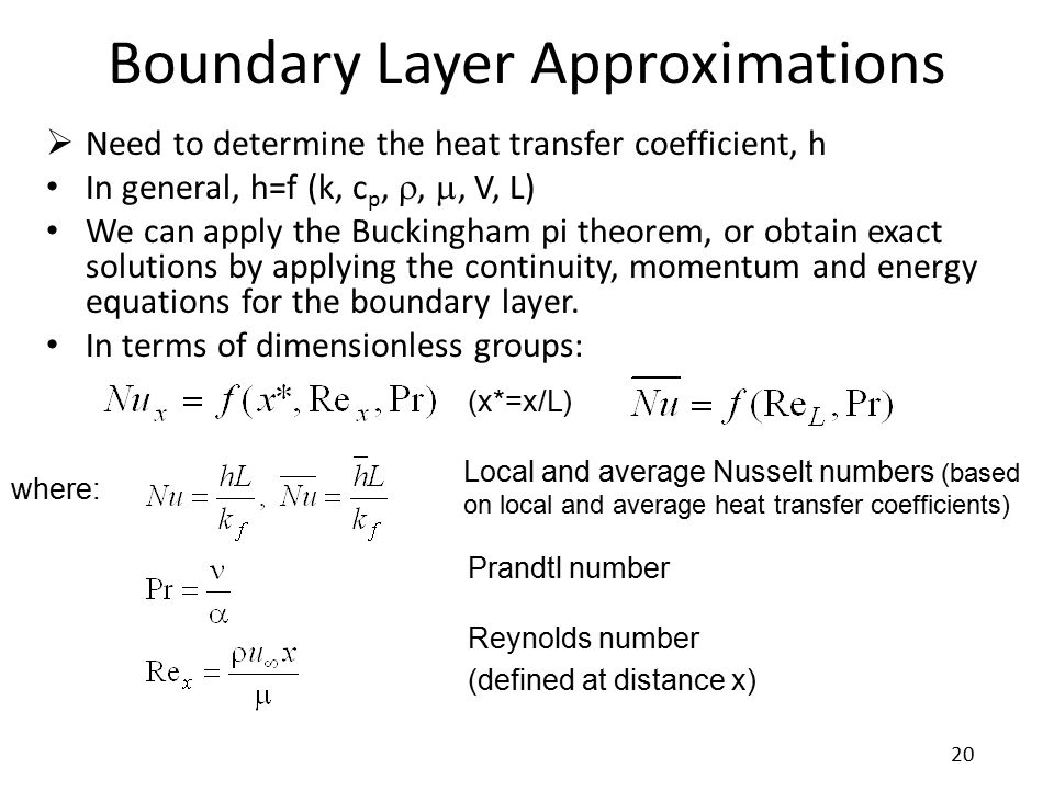 Boundary Layer Approximations