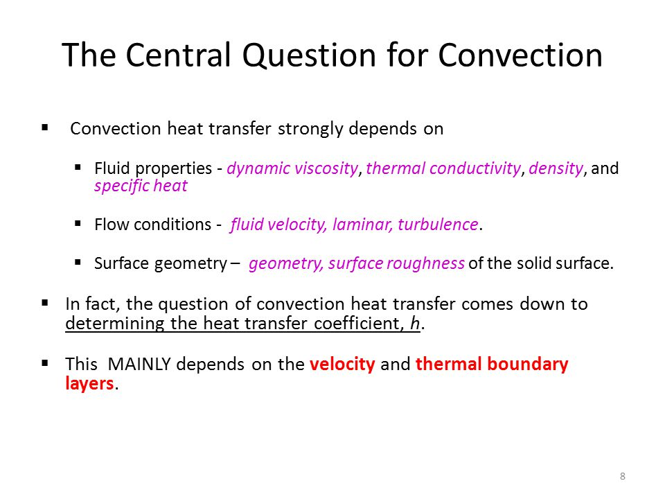 The Central Question for Convection
