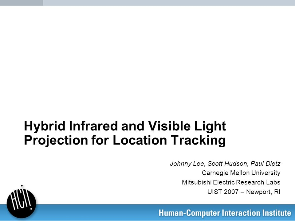 Hybrid Infrared and Visible Light Projection for Location Tracking