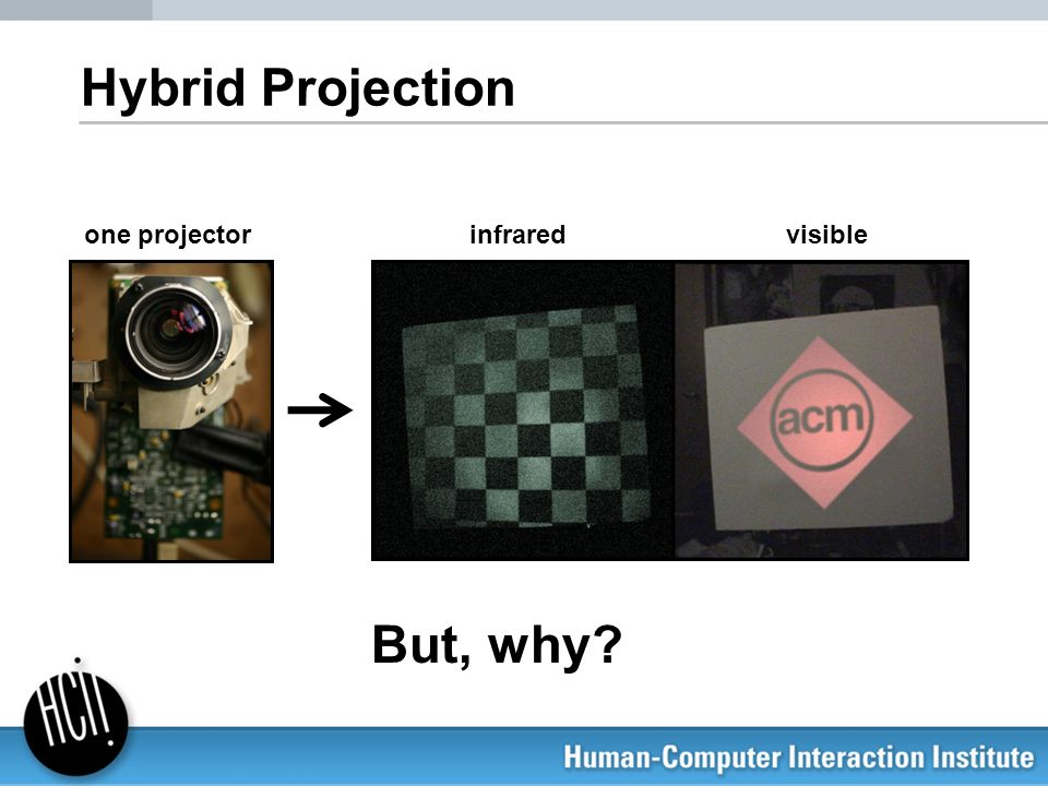 Hybrid Projection one projector infrared visible But, why