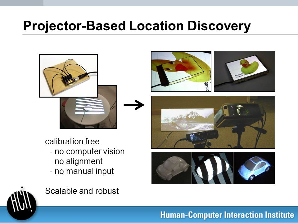 Projector-Based Location Discovery