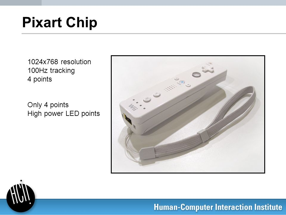 Pixart Chip 1024x768 resolution 100Hz tracking 4 points Only 4 points