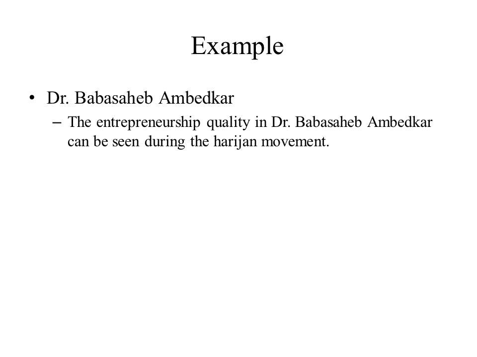 Example Dr. Babasaheb Ambedkar
