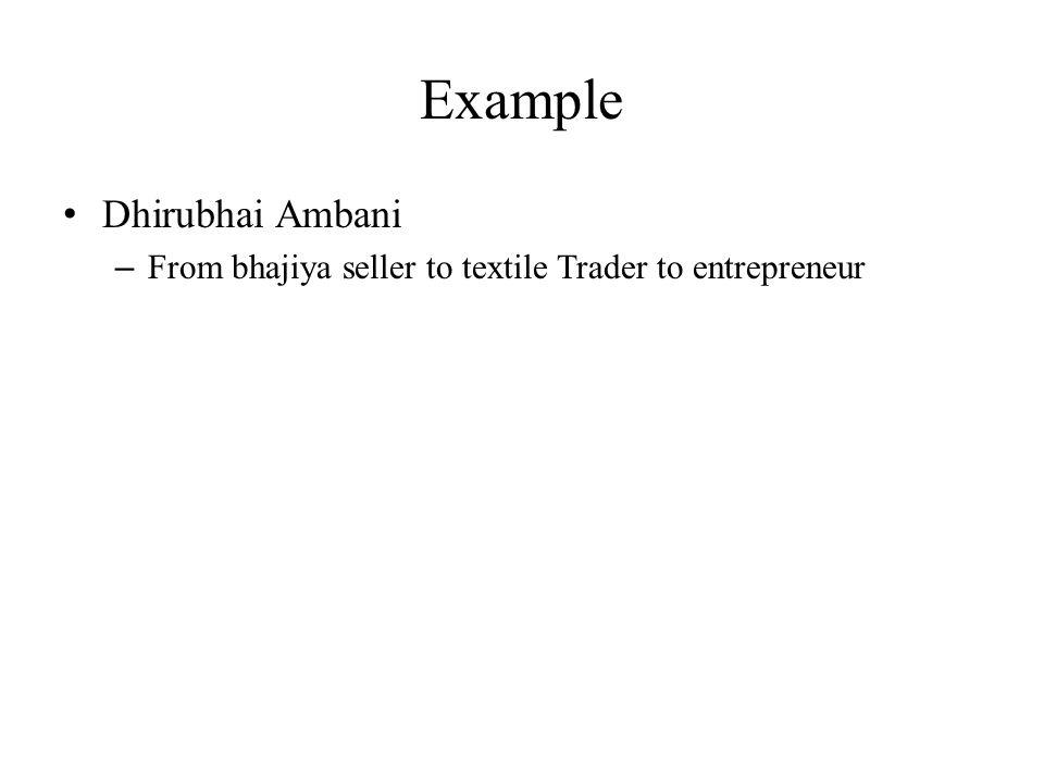 Example Dhirubhai Ambani