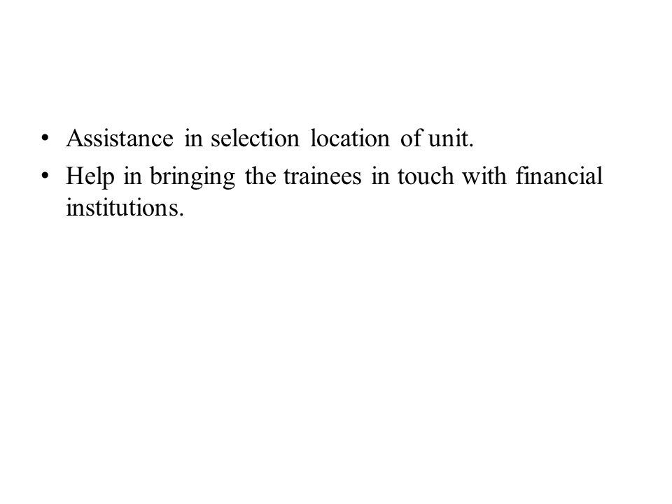 Assistance in selection location of unit.