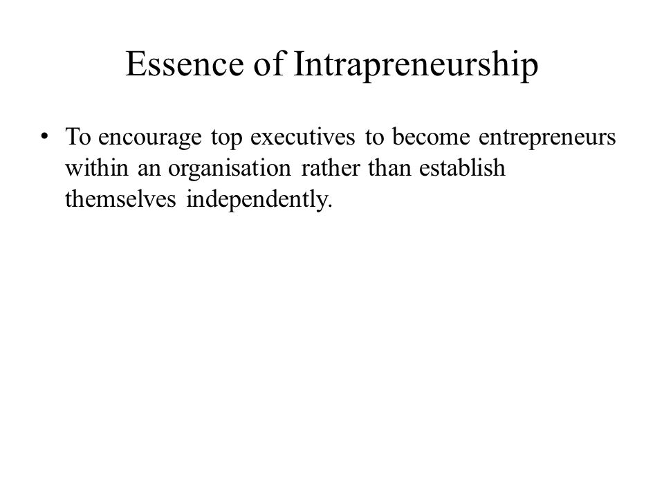 Essence of Intrapreneurship