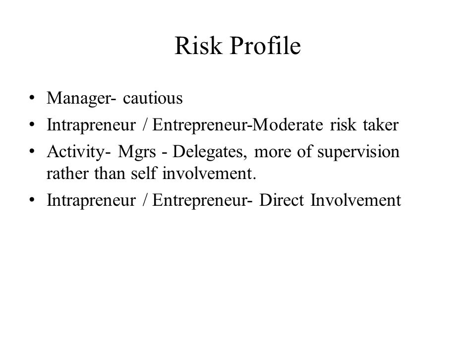 Risk Profile Manager- cautious