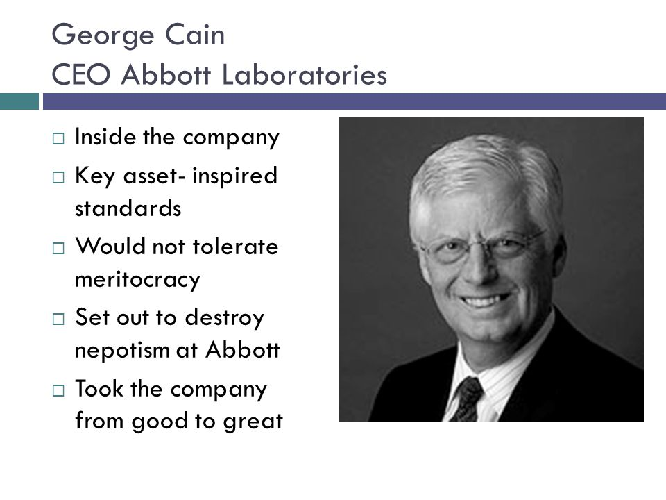 George Cain CEO Abbott Laboratories