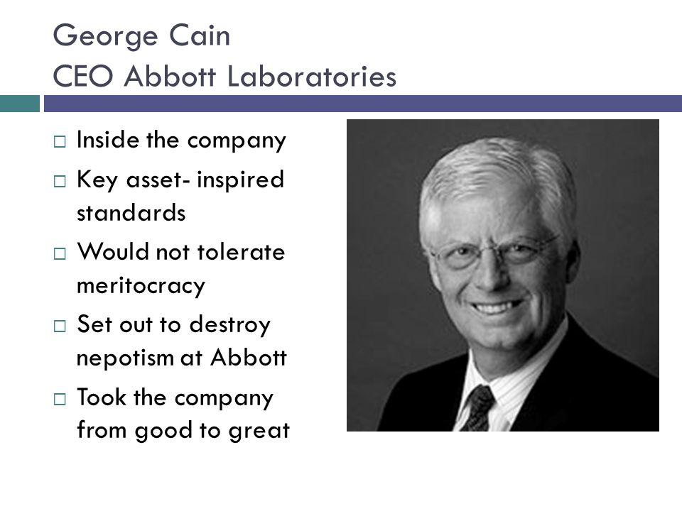 George Cain CEO Abbott Laboratories