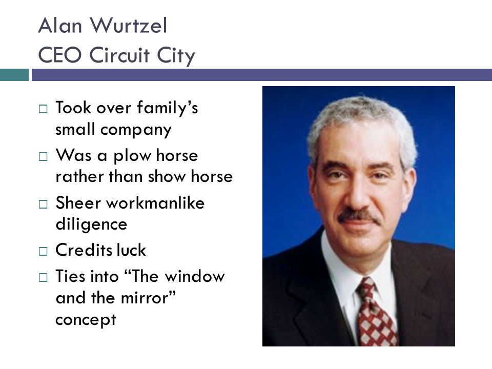 Alan Wurtzel CEO Circuit City