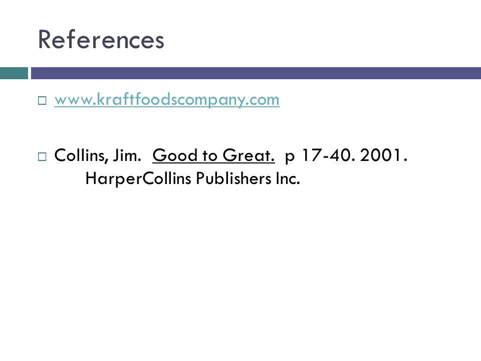 References www.kraftfoodscompany.com