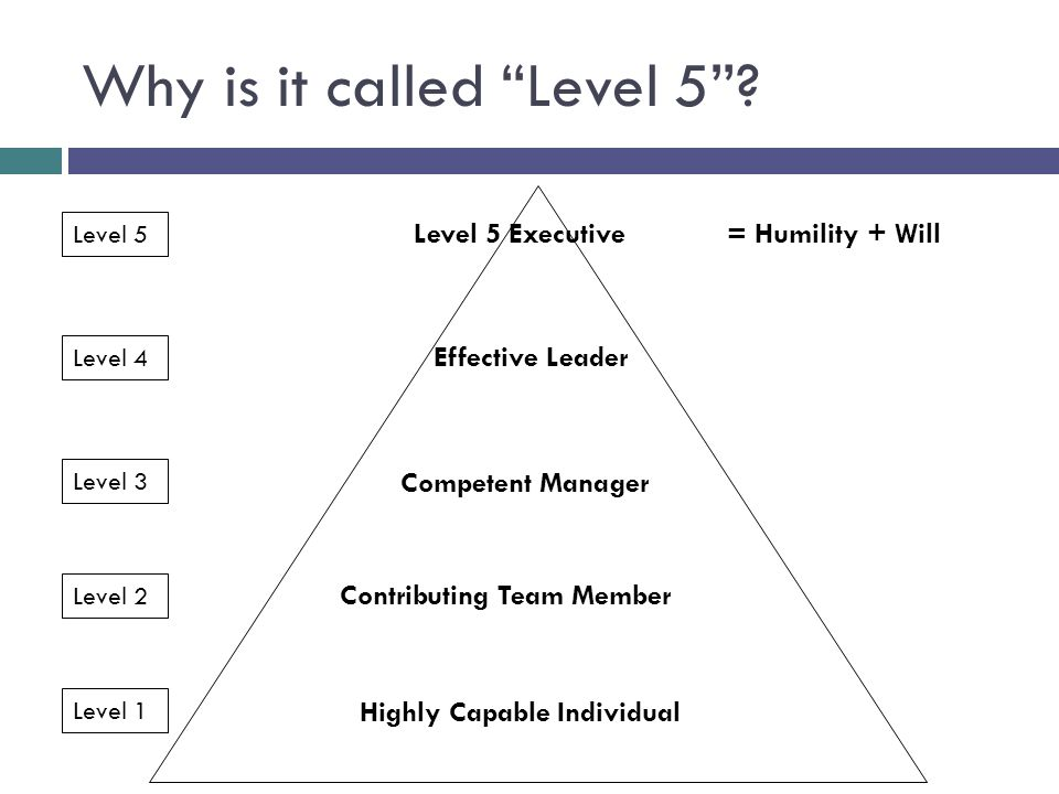 Why is it called Level 5