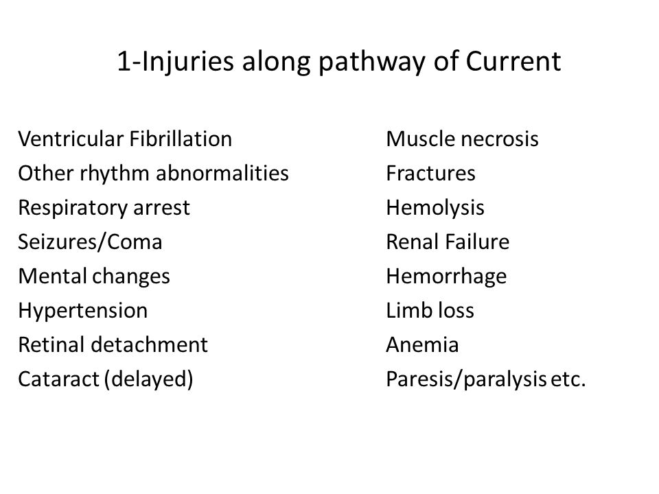 1-Injuries along pathway of Current