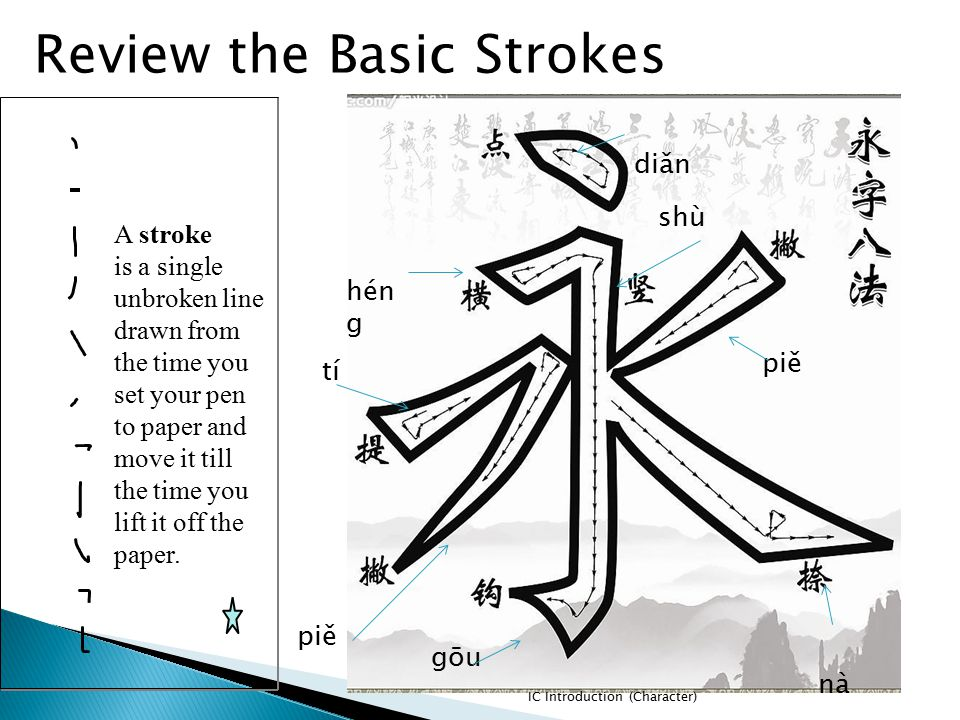 Review the Basic Strokes