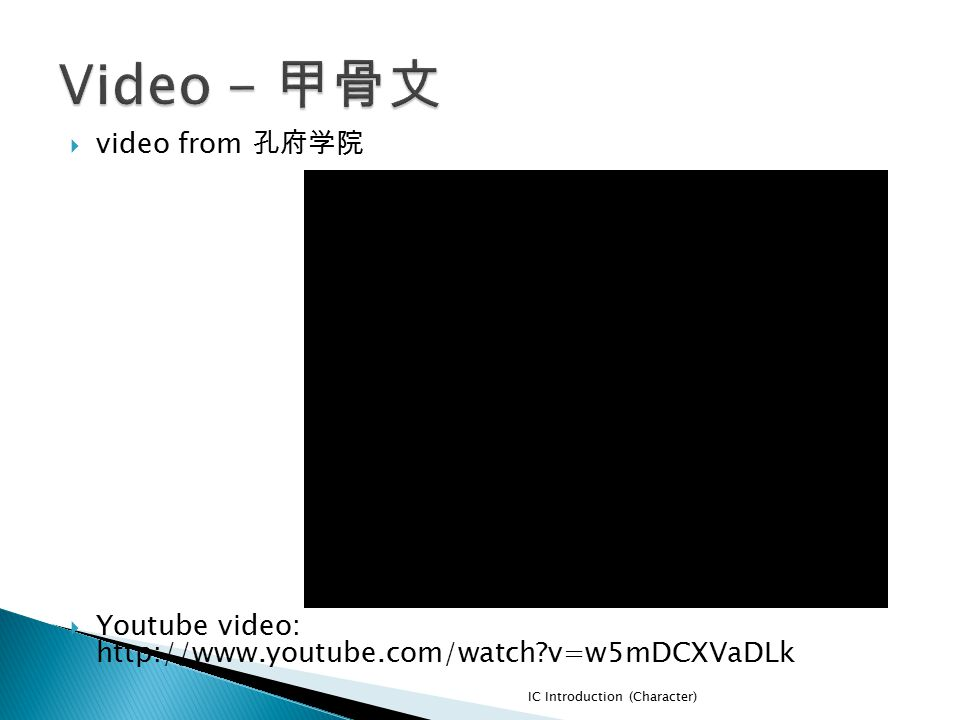 Video - 甲骨文 video from 孔府学院
