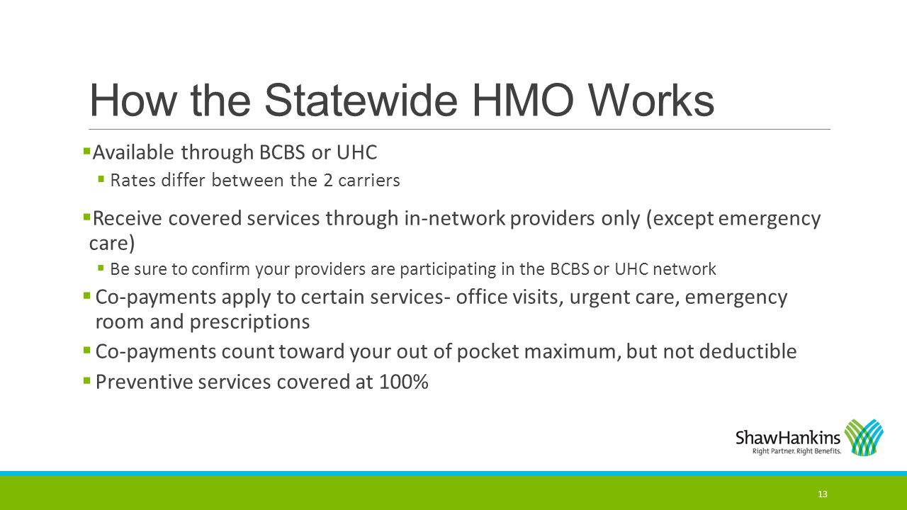How the Statewide HMO Works
