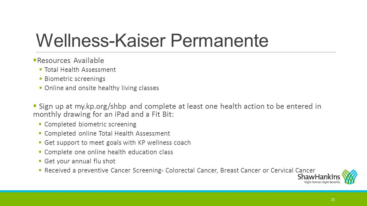 Wellness-Kaiser Permanente
