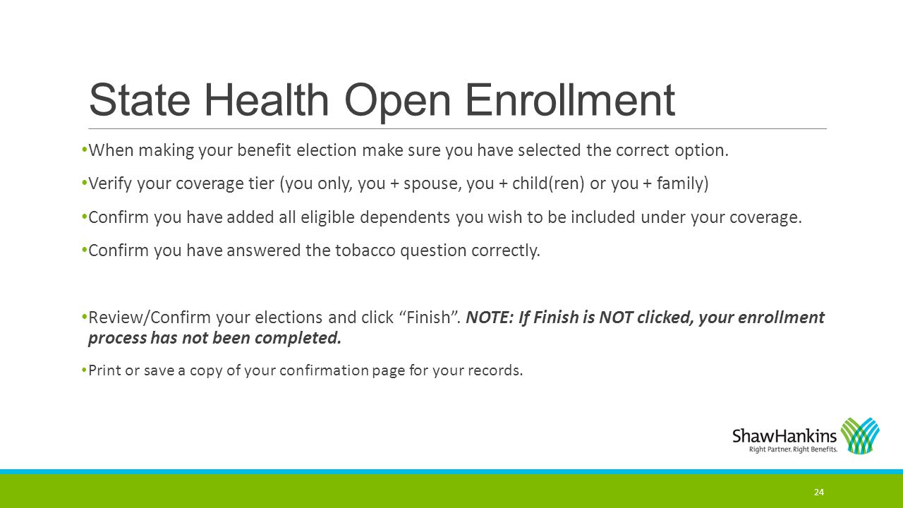 State Health Open Enrollment