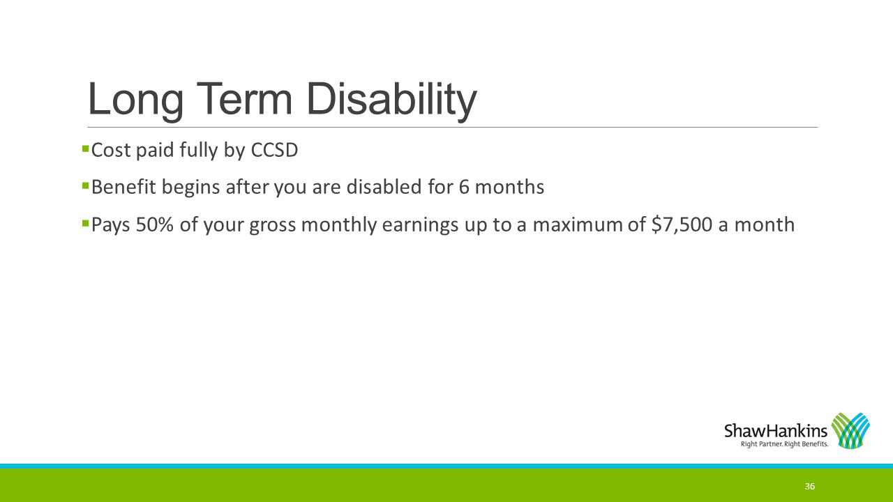 Long Term Disability Cost paid fully by CCSD