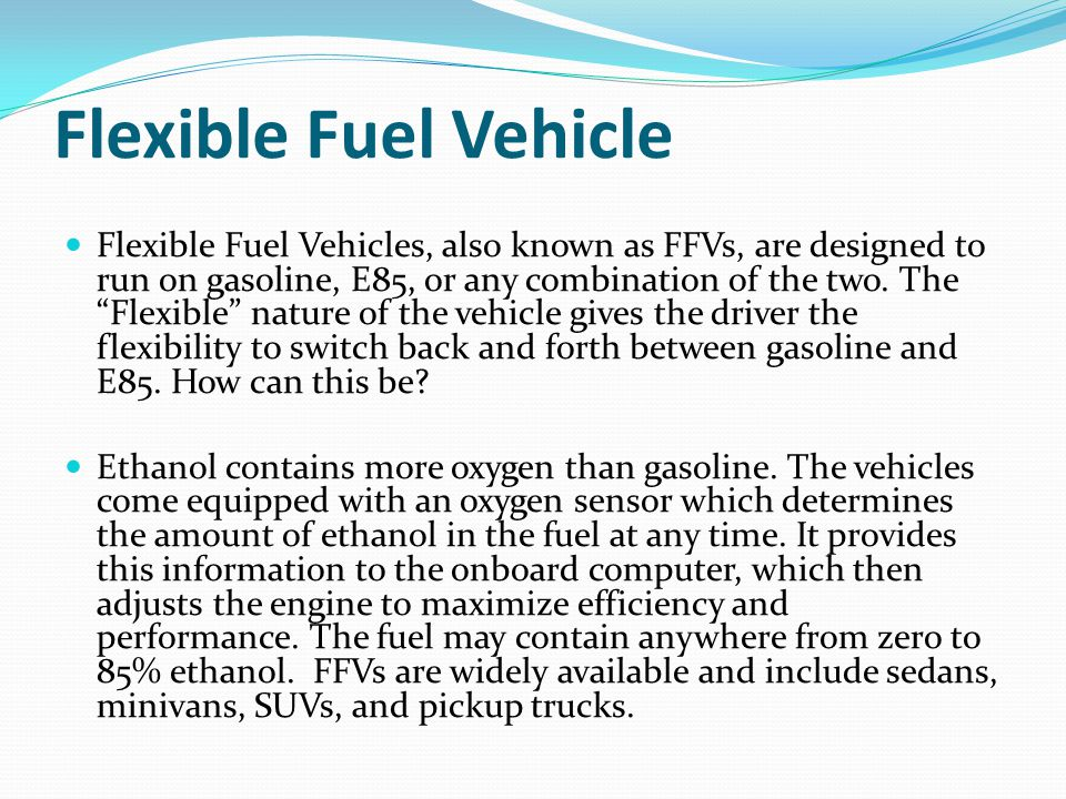Flexible Fuel Vehicle