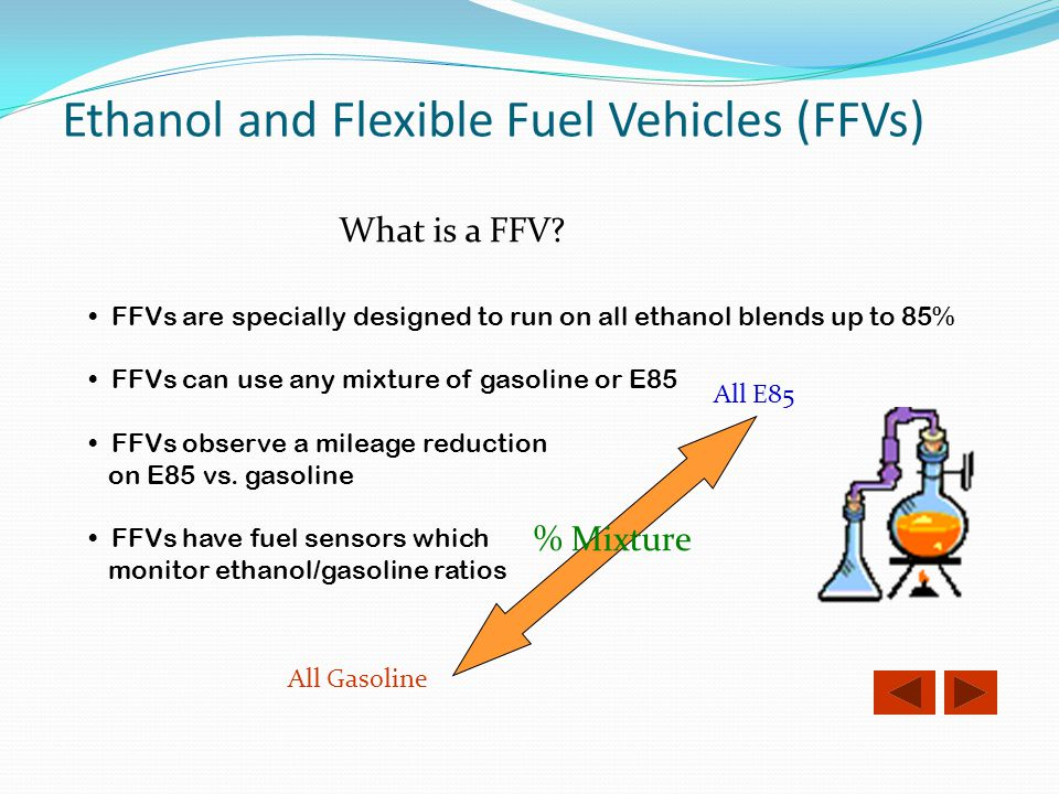 Ethanol and Flexible Fuel Vehicles (FFVs)