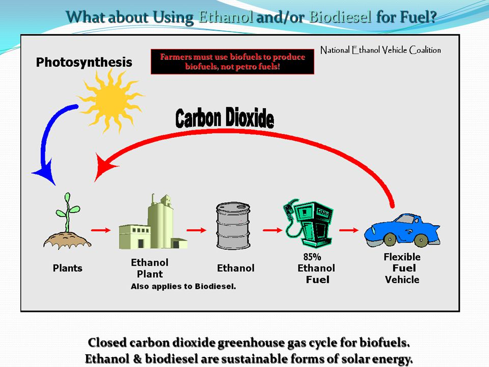 What about Using Ethanol and/or Biodiesel for Fuel