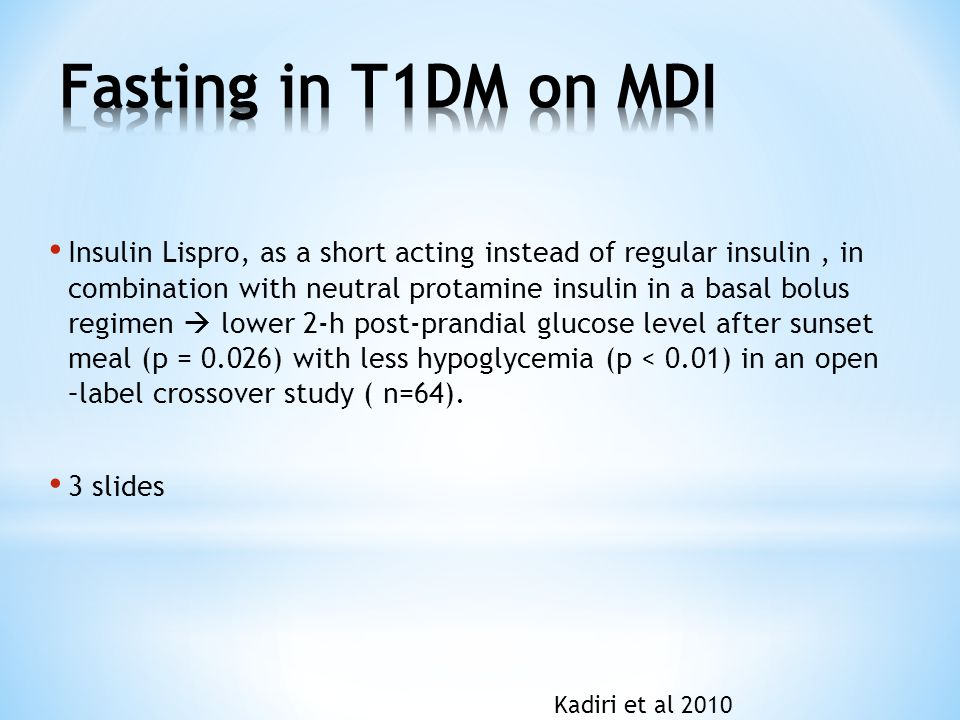 Fasting in T1DM on MDI