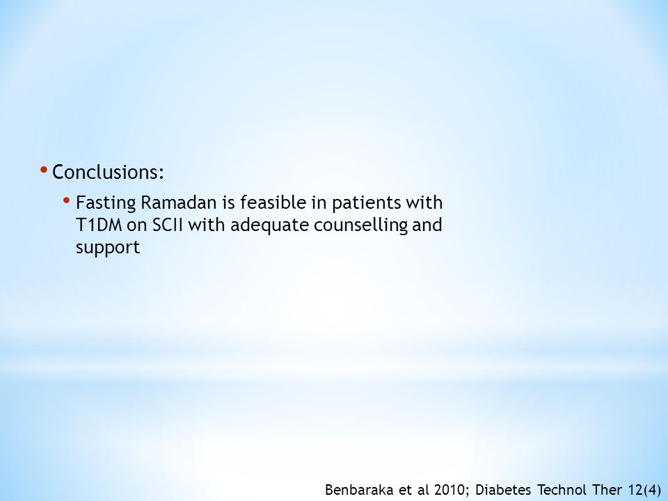 Conclusions: Fasting Ramadan is feasible in patients with T1DM on SCII with adequate counselling and support.
