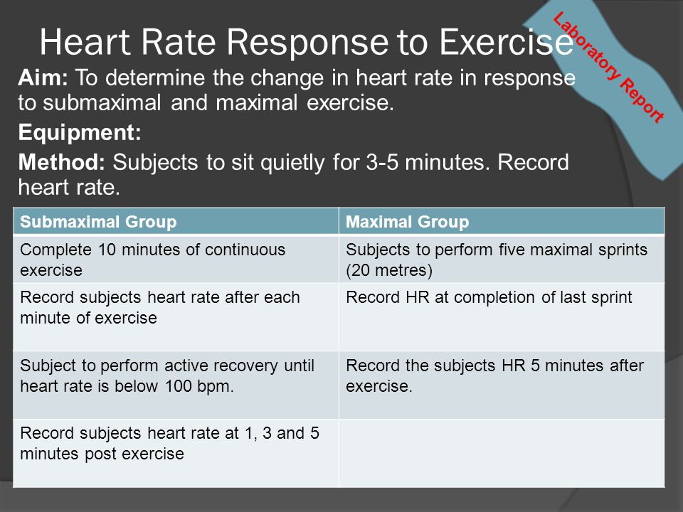 Heart Rate Response to Exercise