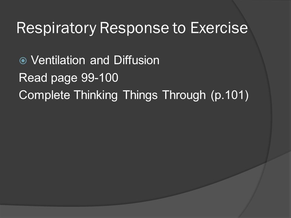 Respiratory Response to Exercise