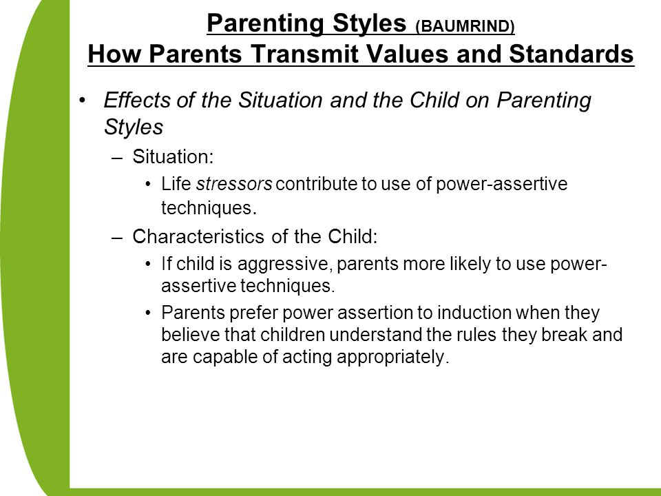 impact of parenting styles on adolescent emotional maturity Start studying parenting styles learn vocabulary,  they have helped us understand the potential impact of parenting on  high on control and maturity demands.