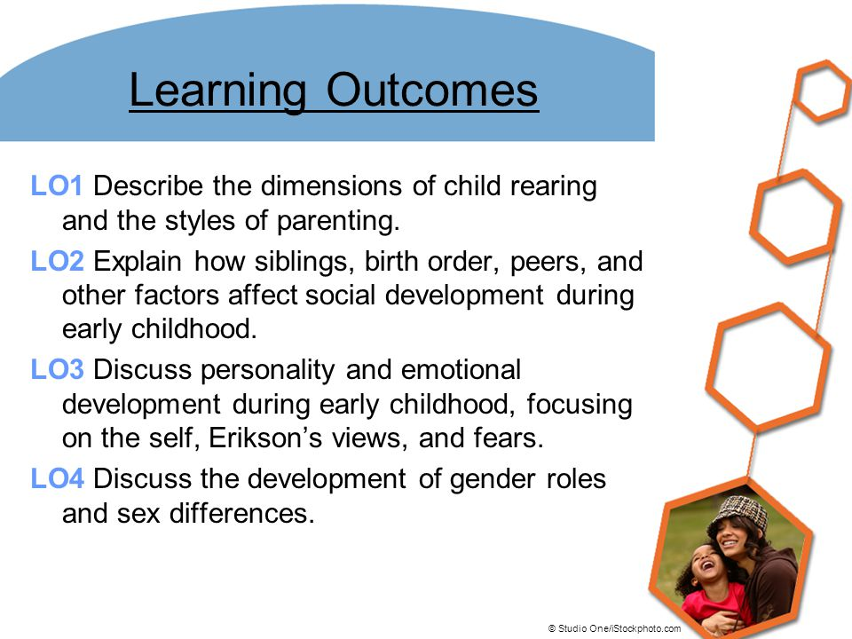Learning Outcomes LO1 Describe the dimensions of child rearing and the styles of parenting.