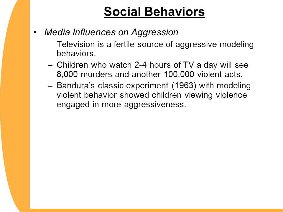 Social Behaviors Media Influences on Aggression