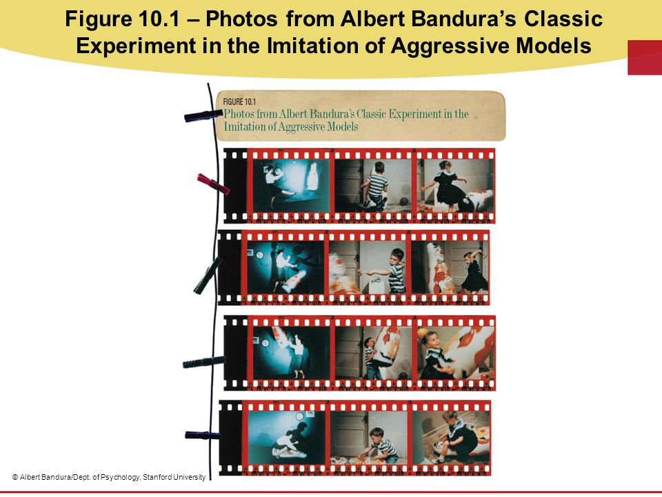 Figure 10.1 – Photos from Albert Bandura's Classic Experiment in the Imitation of Aggressive Models