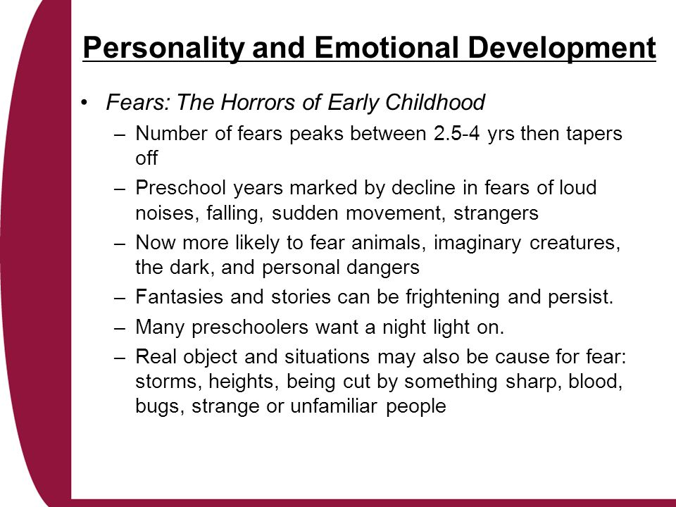 Personality and Emotional Development