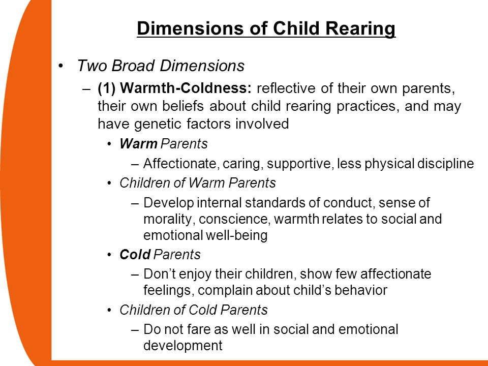 Dimensions of Child Rearing