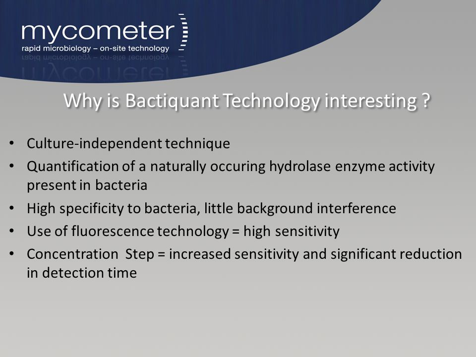 Why is Bactiquant Technology interesting