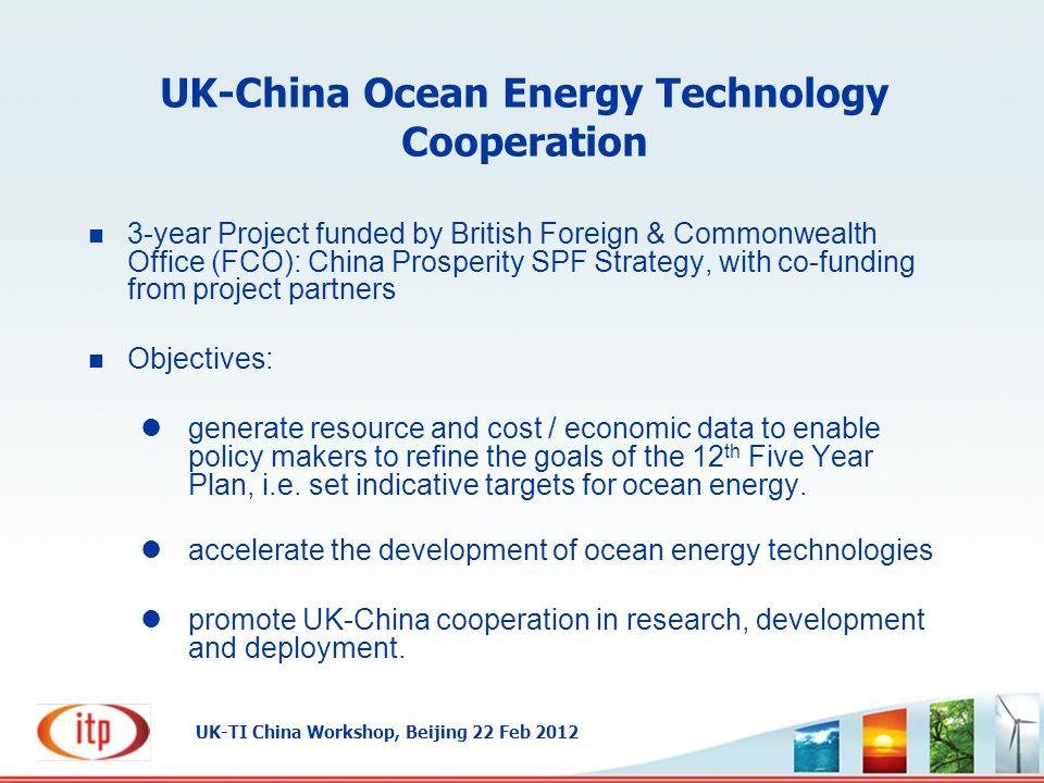UK-China Ocean Energy Technology Cooperation