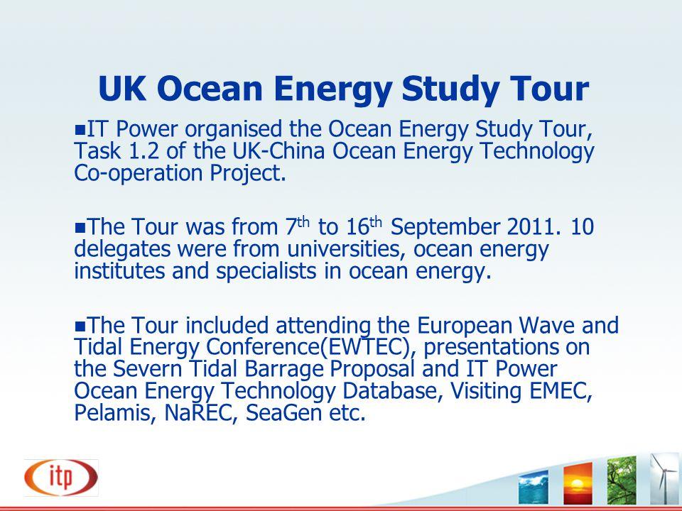 UK Ocean Energy Study Tour