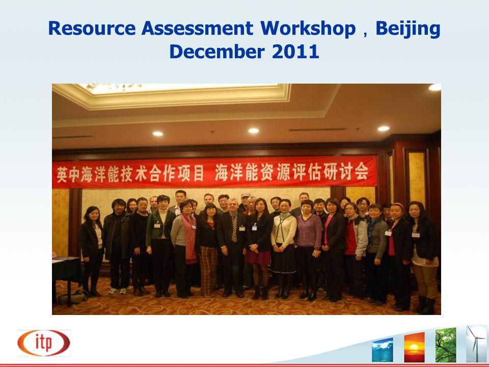 Resource Assessment Workshop,Beijing December 2011