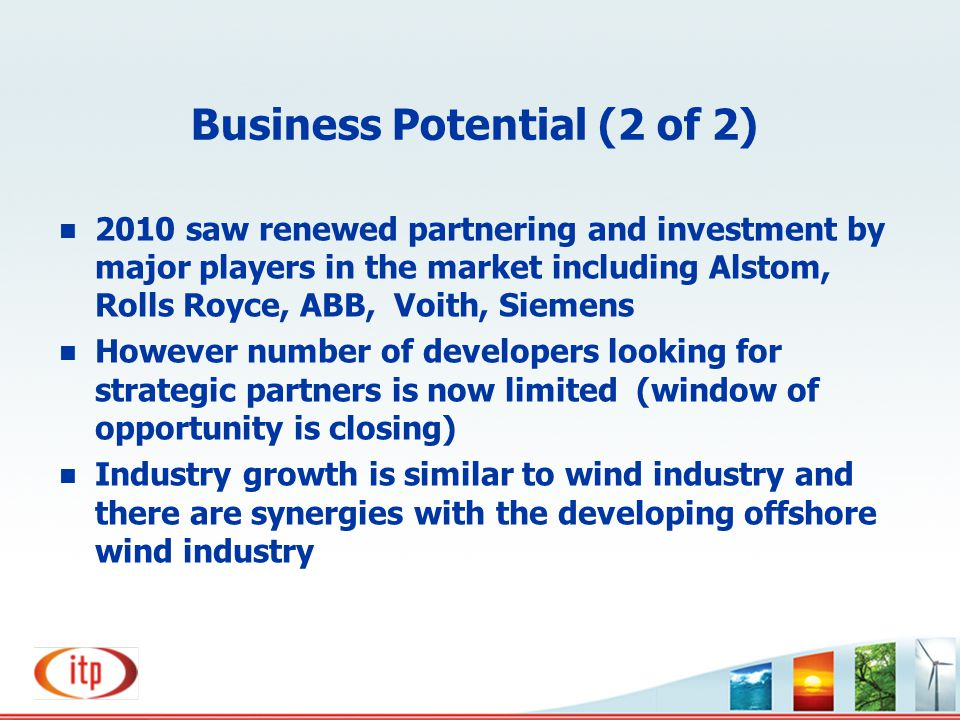 Business Potential (2 of 2)