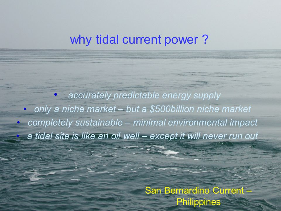 why tidal current power
