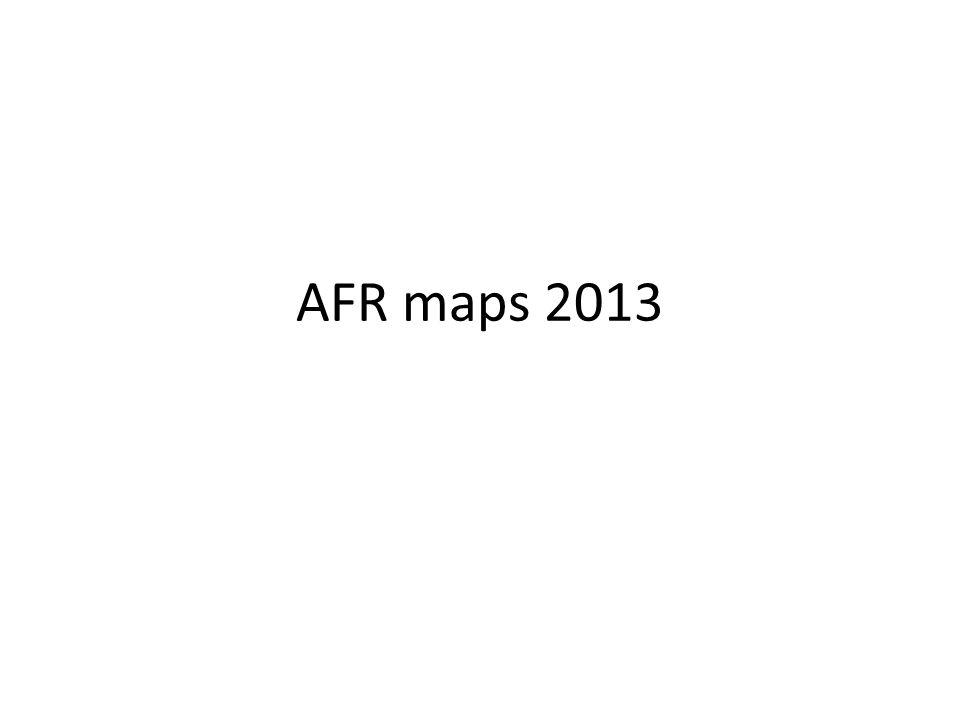 AFR maps 2013