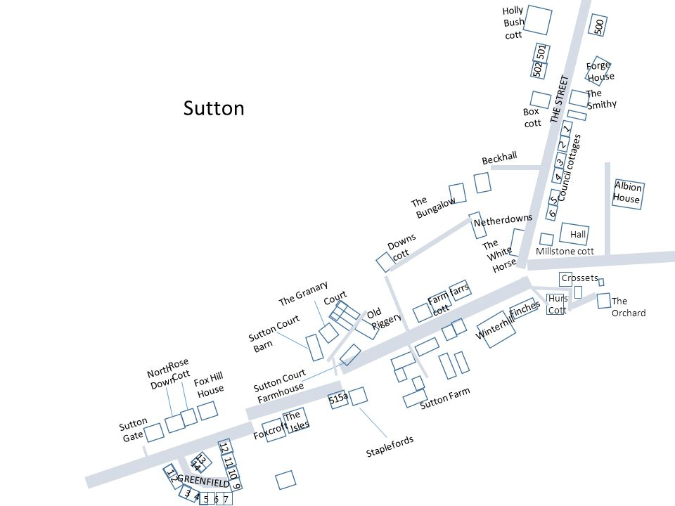 Sutton Holly Bush cott 500 502 501 Forge House The Smithy THE STREET