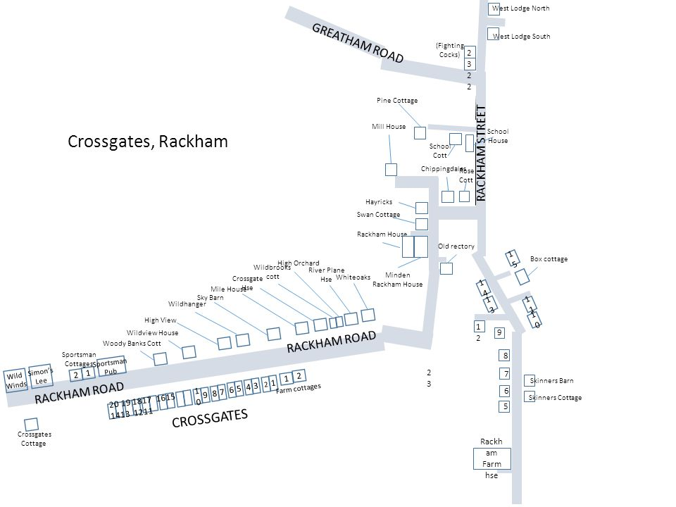 Crossgates, Rackham CROSSGATES GREATHAM ROAD RACKHAM STREET