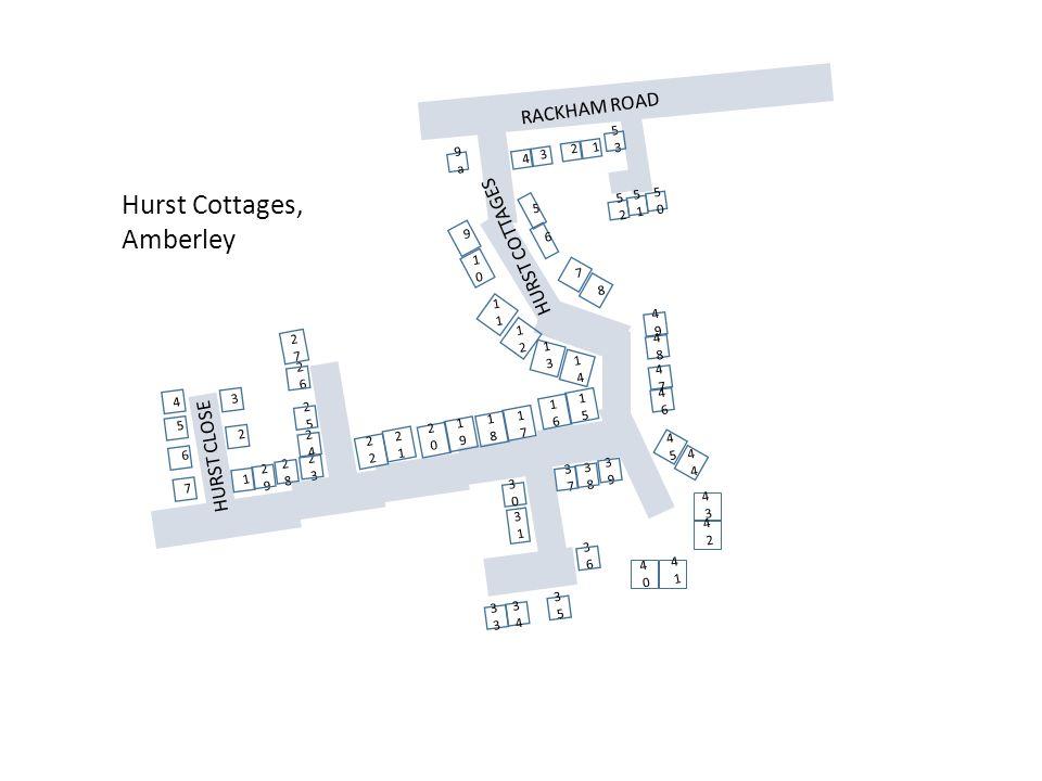 Hurst Cottages, Amberley RACKHAM ROAD HURST COTTAGES HURST CLOSE 53 9a