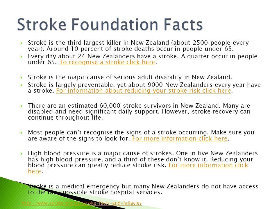 Stroke Foundation Facts