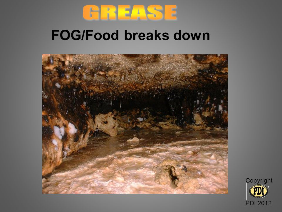 GREASE FOG/Food breaks down Copyright PDI 2012