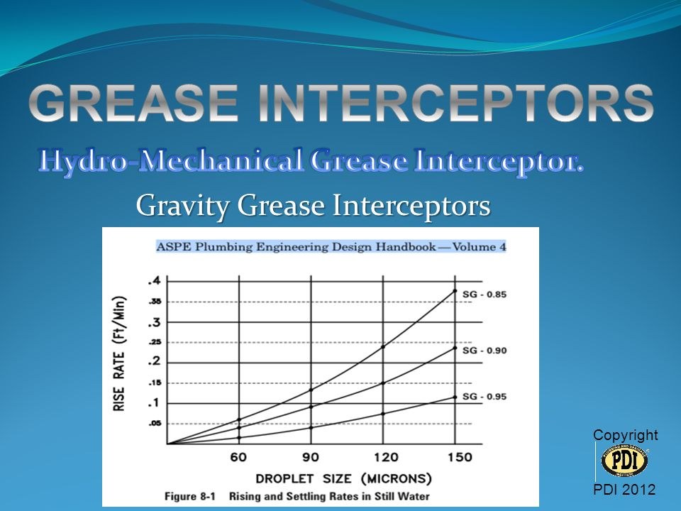 GREASE INTERCEPTORS Hydro-Mechanical Grease Interceptor.
