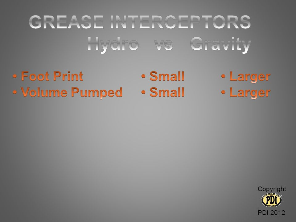 GREASE INTERCEPTORS Hydro vs Gravity